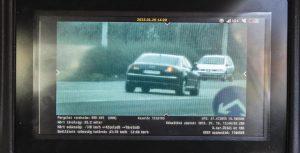 gyorshajtás VÉDA traffipax felvétel